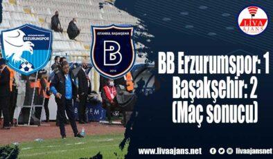BB Erzurumspor: 1 – Başakşehir: 2 (Maç sonucu)