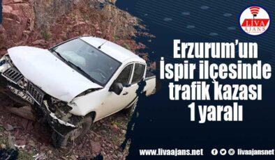 Erzurum'un İspir ilçesinde trafik kazası 1 yaralı