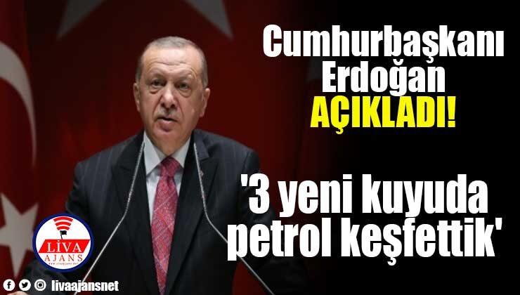 Cumhurbaşkanı Erdoğan: '3 yeni kuyuda petrol keşfettik'