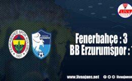 Fenerbahçe: 3 – BB Erzurumspor: 1