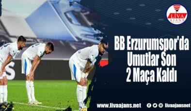 BB Erzurumspor'da Umutlar Son 2 Maça Kaldı