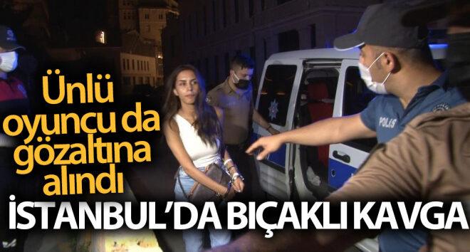 Ünlü oyuncu Ayşegül Çınar bıçaklı kavga sonrası gözaltında:7'si polis 12 yaralı