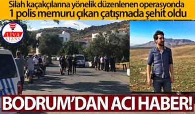 Bodrum'da 1 polis memuru çıkan çatışmada şehit oldu