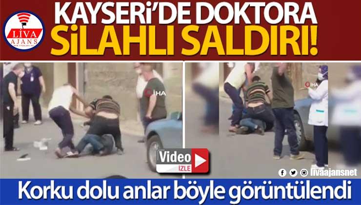 Yaralı doktor ile saldırgan arasındaki boğuşma kamerada