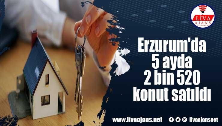 Erzurum'da 5 ayda 2 bin 520 konut satıldı