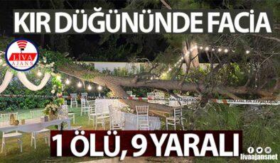 Antalya'da kır düğününde facia: 1 ölü, 9 yaralı