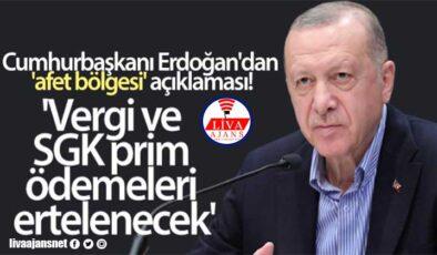 Cumhurbaşkanı Erdoğan'dan açıkladı